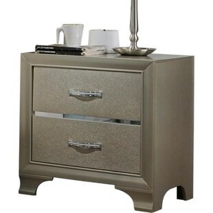 Connie Wooden 2 Drawer Nightstand