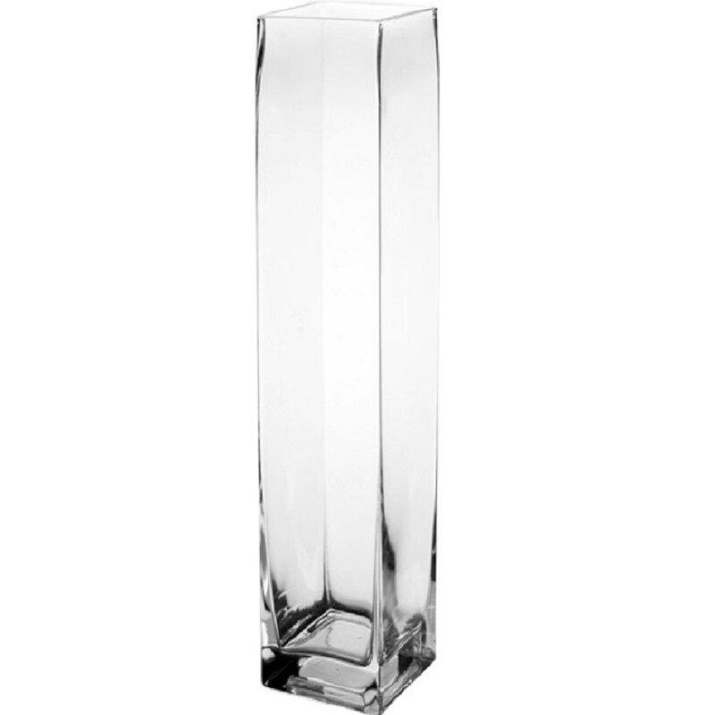 Cysexcel Glass Square Vase Wayfair