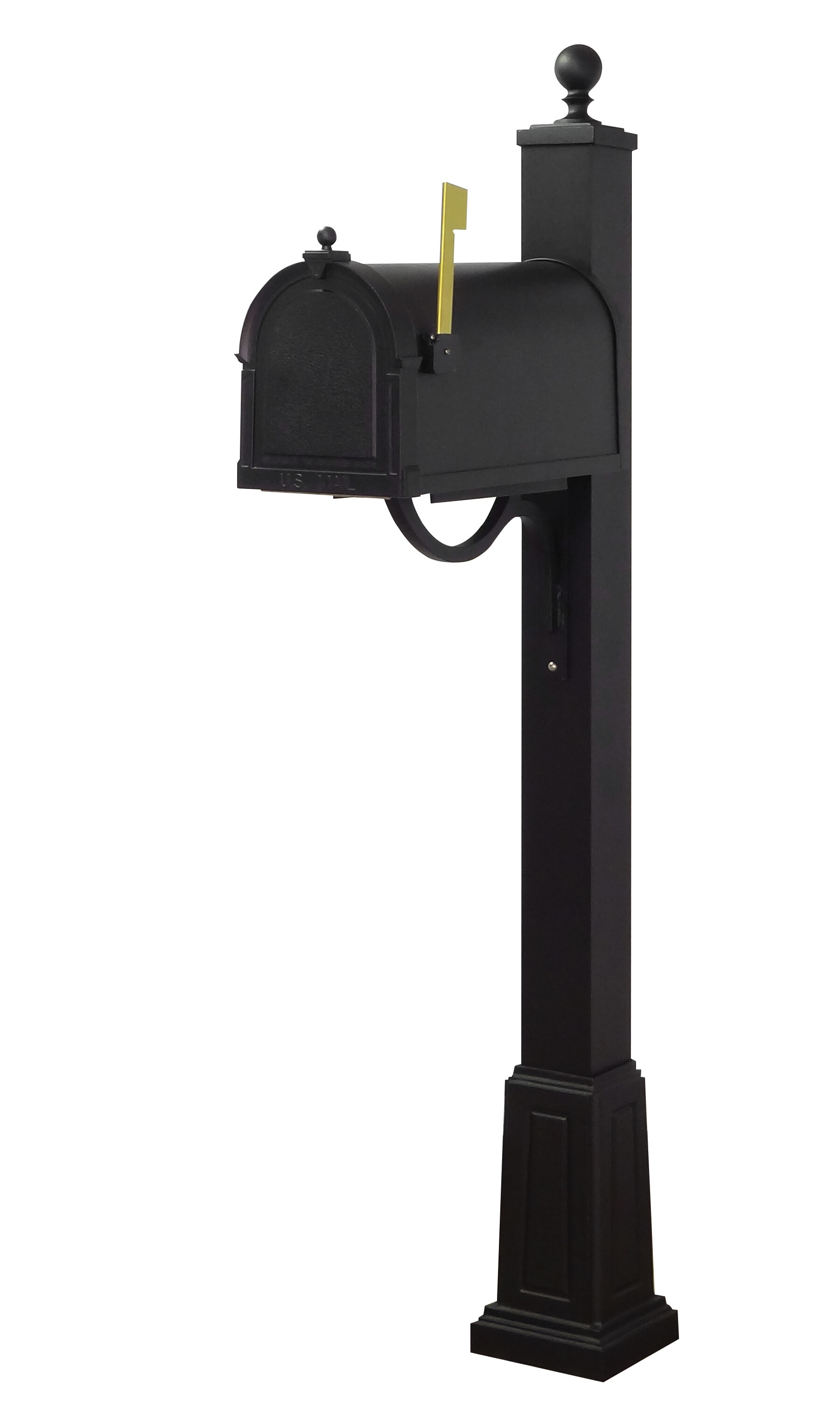 Special Lite Products Berkshire Curbside Locking Post Mounted Mailbox With Post Included Wayfair
