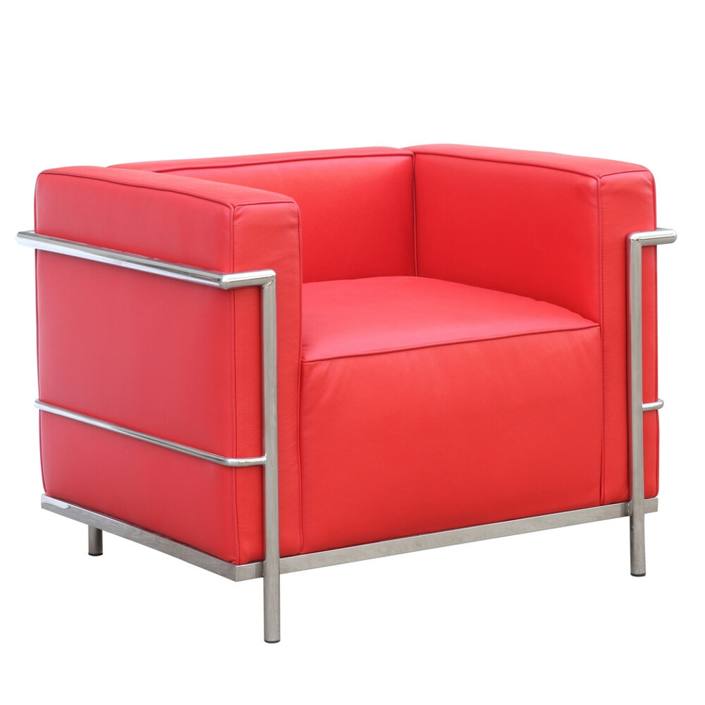 Fine Mod Imports Cube Lc2 Petit Barrel Chair | Wayfair