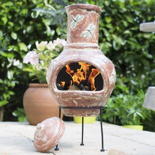 Bram Clay Wood Burning Chiminea By Sol 72 Outdoor