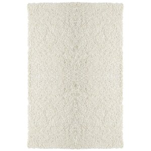 Downy White Shag Area Rug