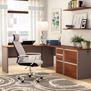 Karla 2 Piece L-Shaped Desk Office Suite By Latitude Run