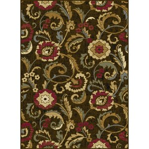 Colesville 3 Piece Brown Area Rug Set