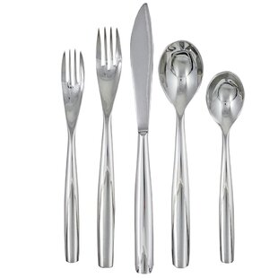 Charlie 20 Piece 18/10 Stainless Steel Flatware Set, Service for 4