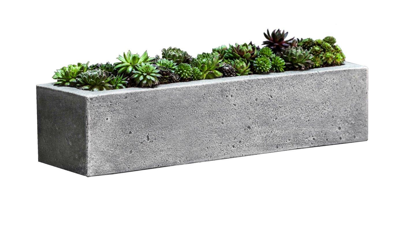 box planters  joss  main - georgina stone planter box