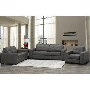 Best Aya 3 Piece Living Room Set (Set of 3) by Ebern Designs Reviews (2019) & Buyer's Guide