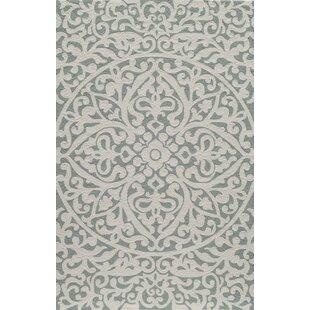 St James Hand-Hooked Wool Gray Indoor/Outdoor Area Rug