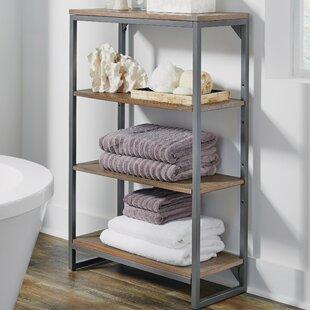 Comparison Eckles 24 W x 38.25 H Bathroom Shelf By17 Stories