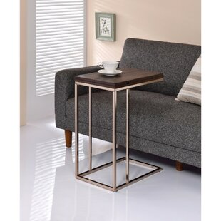 Darley Brown Wooden Top Snack End Table by Wrought Studio