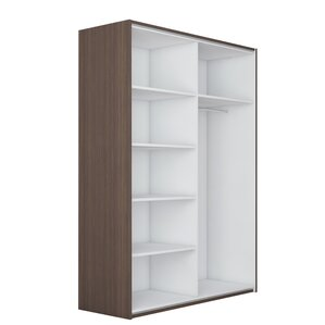Zastrow 5 Shelves Armoire with Sliding Doors by Brayden Studio