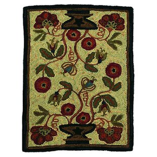 Hooked Potted Flower Area Rug By Homespice Decor