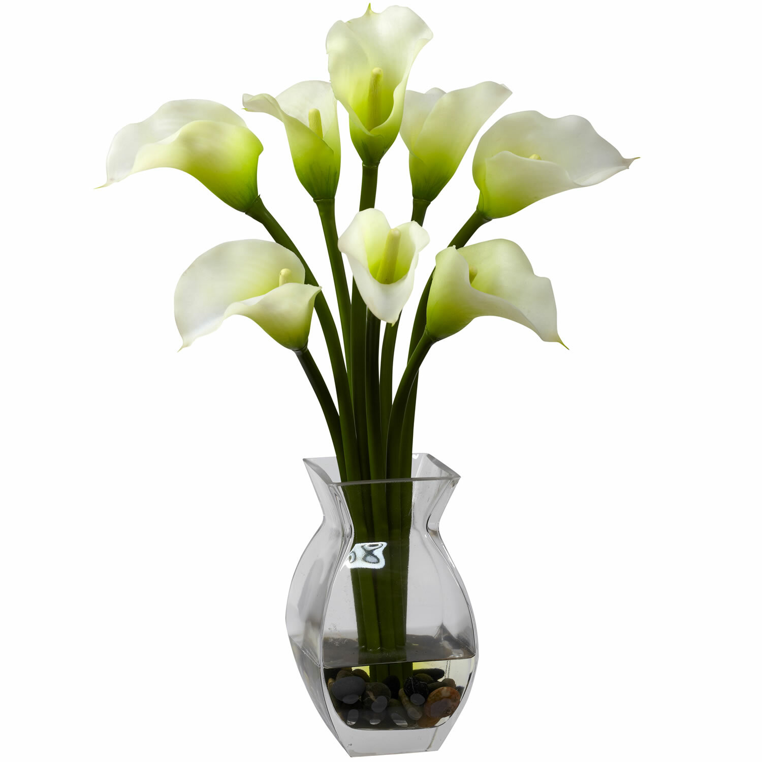 Willa arlo interiors silk calla lily in vase reviews wayfair reviewsmspy