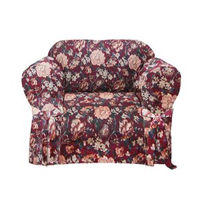 Tapestry Box Cushion Armchair Slipcover by T..