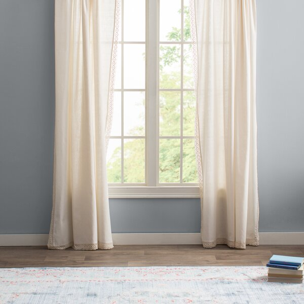 laurel foundry modern farmhouse arraignee solid semisheer pinch pleat curtain panels u0026 reviews wayfair