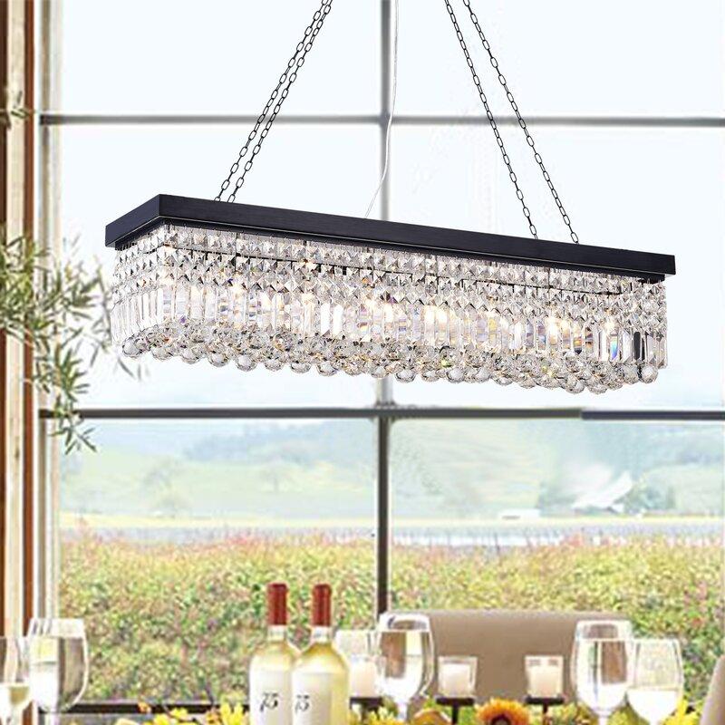 Crossett 8 light crystal chandelier