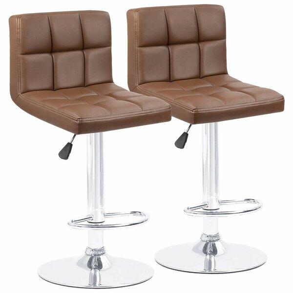 Terrific Renea Adjustable Height 33 Swivel Bar Stool Ibusinesslaw Wood Chair Design Ideas Ibusinesslaworg