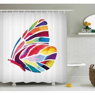 Butterfly Decor Single Shower Curtain
