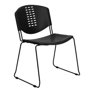 Plastic Stack Chair in Black by Flash Furniture