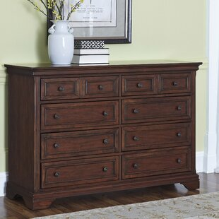 Three Posts Curran 8 Drawer Double Dresser