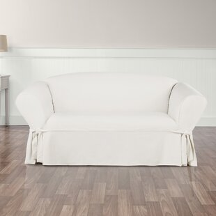 Essential Twill Box Cushion Loveseat Slipcover