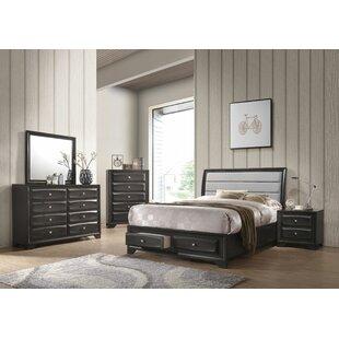 Ebern Designs Damarion Sleigh Configurable Bedroom Set