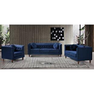 Evenson 3 Piece Standard Living Room Set by House of Hampton