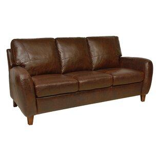 Loon Peak Oaks Leather Sofa