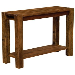 Fireside Lodge Barnwood Post Console Table