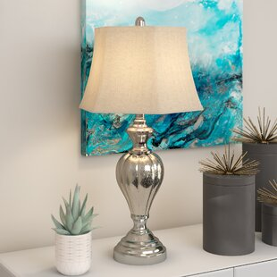 Best Reviews Jaida Glass and Metal 27 Table Lamp By House of Hampton