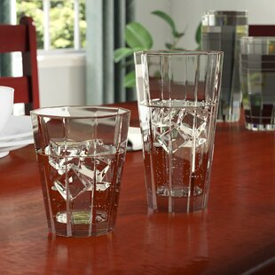 Sabatini 12-Piece Acrylic Assorted Glassware Set