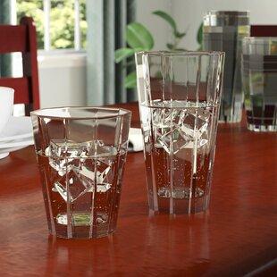 Sabatini 12 Piece Acrylic Assorted Glassware Set