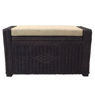 Fabulous Yvette Rattan Storage Ottoman Gmtry Best Dining Table And Chair Ideas Images Gmtryco