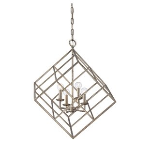 Wildon Home ® Glendale 4-Light Square/Rectangle Chandelier