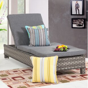 Highland Dunes Caleb Reclining Chaise Lounge with Cushion