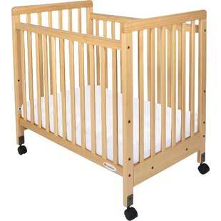 ab436a02db5 Sonali Compact Size Slatted Portable Crib with Mattress
