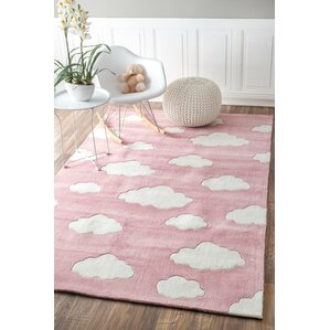 Lily Cloudy Sachiko Hand Tufted Pink Area Rug