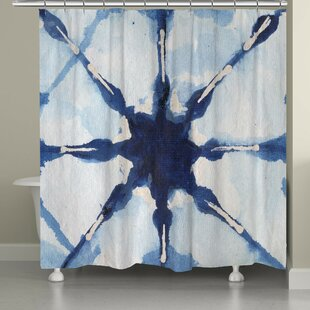 Brasher Shibori Single Shower Curtain