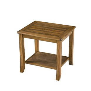 Iain Wood Top End Table by Millwood Pines