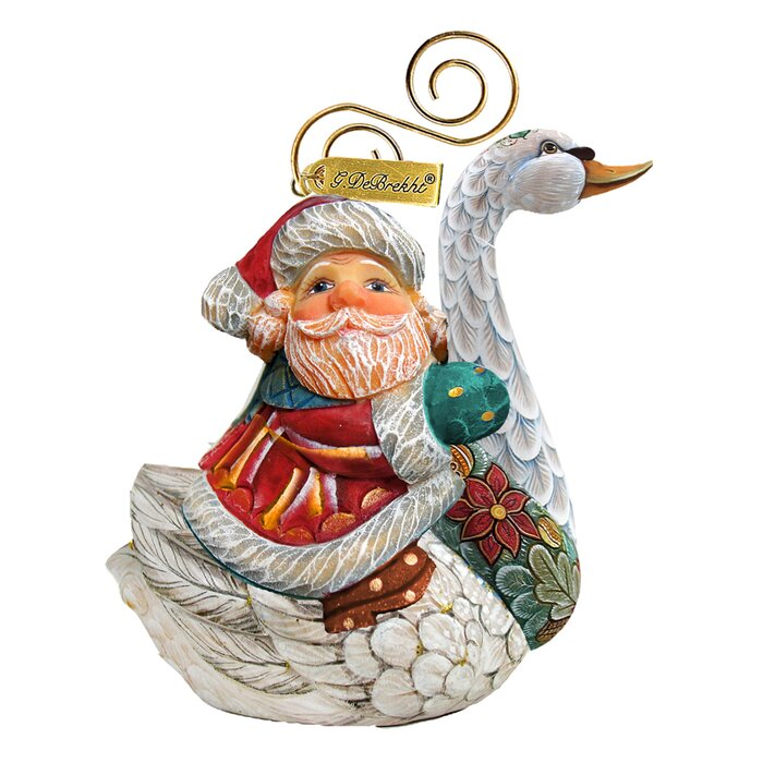 The Holiday Aisle Fifield Teddy Santa Ornament Figurine With Scenic Painting Holiday Seasonal Décor Christmas Winter Décor