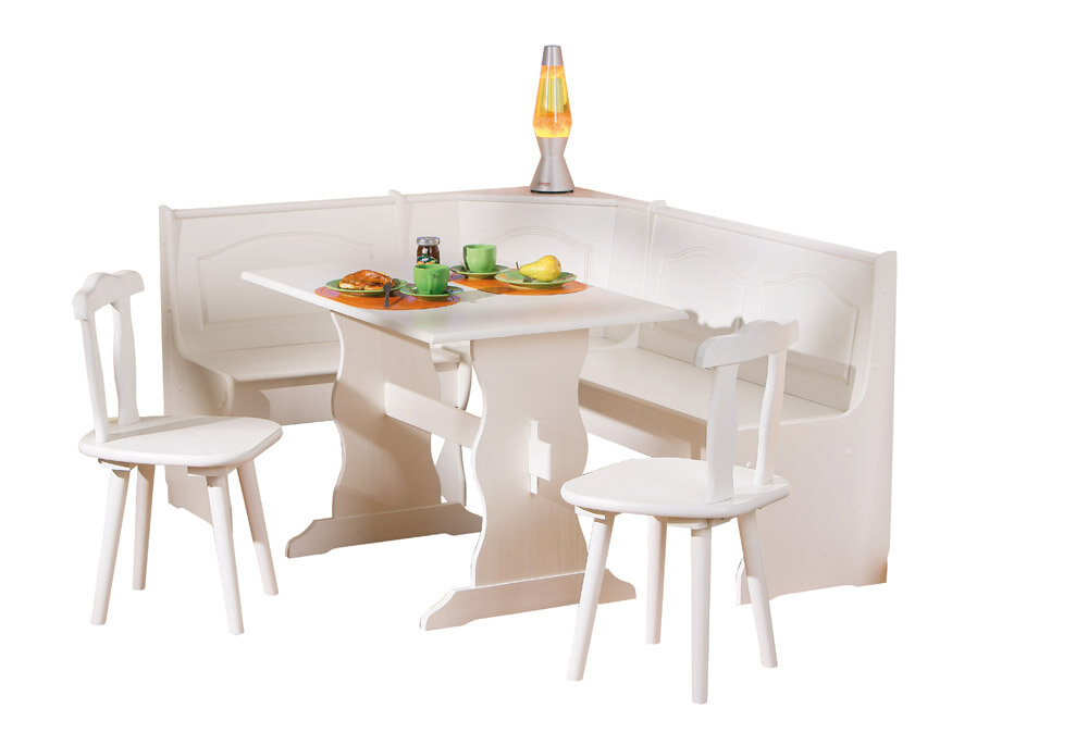 Union Rustic Wamsutter Corner Dining Set With 2 Chairs And