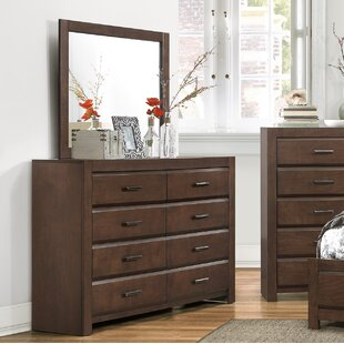 Mccarver 8 Drawer Dresser with Mirror