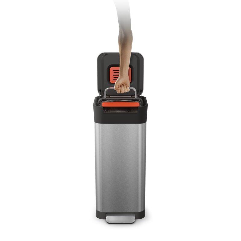 Joseph Joseph Intelligent Waste Titan Steel Step On Trash Compactor Reviews Wayfair Ca
