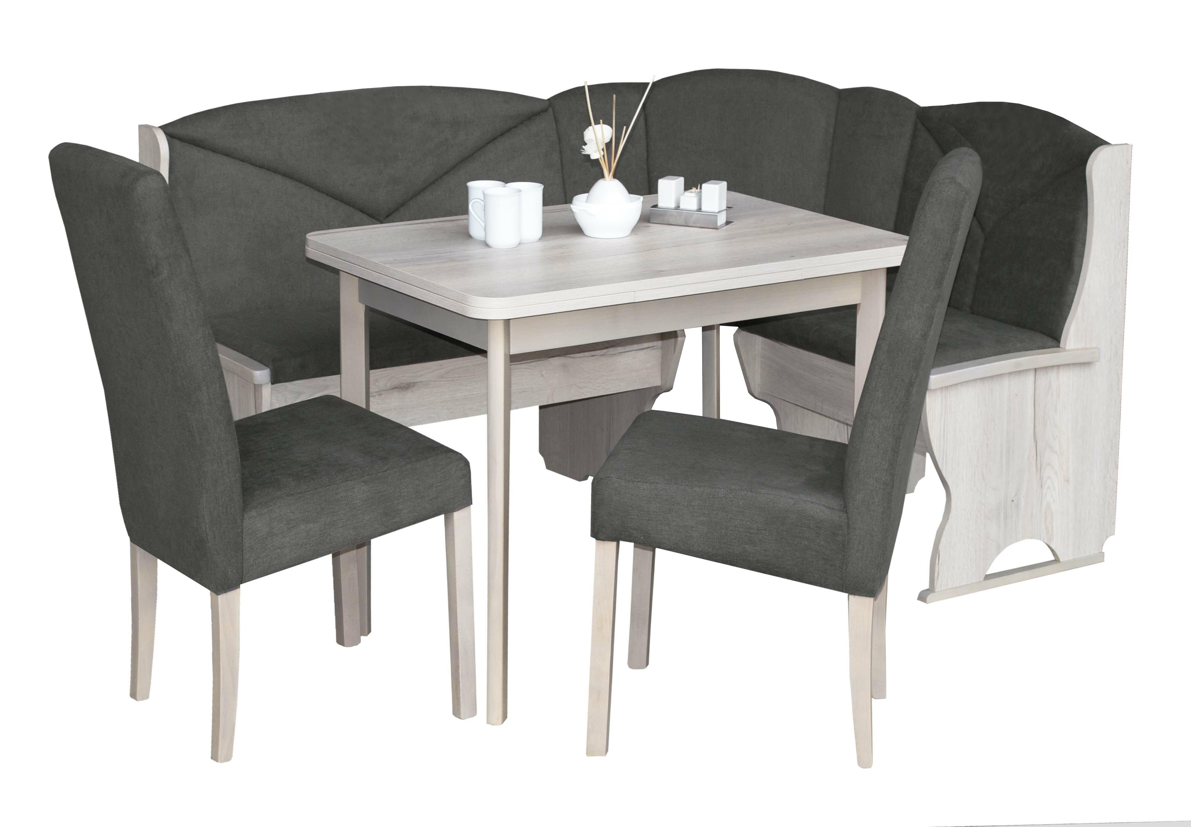 Ophelia Co Eckbankgruppe Marland Mit Ausziehbarem Tisch 2 Stuhlen Und Einer Bank Wayfair De
