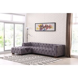 Harris Chesterfield Sectional (Set of 2)  sc 1 st  Wayfair : purple sectional sofa for sale - Sectionals, Sofas & Couches