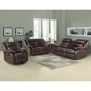 Trista Reclining 3 Piece Living Room Set by Red Barrel Studio