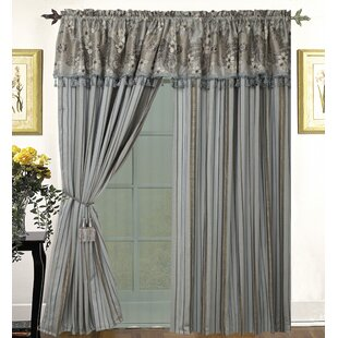 Lorene Luxury Solid Sheer Rod Pocket Curtain Panels (Set of 2) by Astoria Grand
