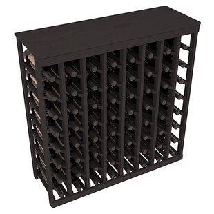 Karnes Pine 64 Bottle Floor Wine Rack