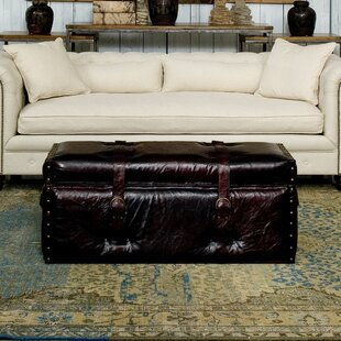 Laramie Trunk Leather Storage Bench
