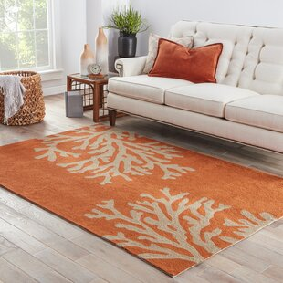Fortson Hooked Orange Indoor/Outdoor Area Rug